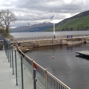 Snow on the Munros and a stiff wind  at the marina